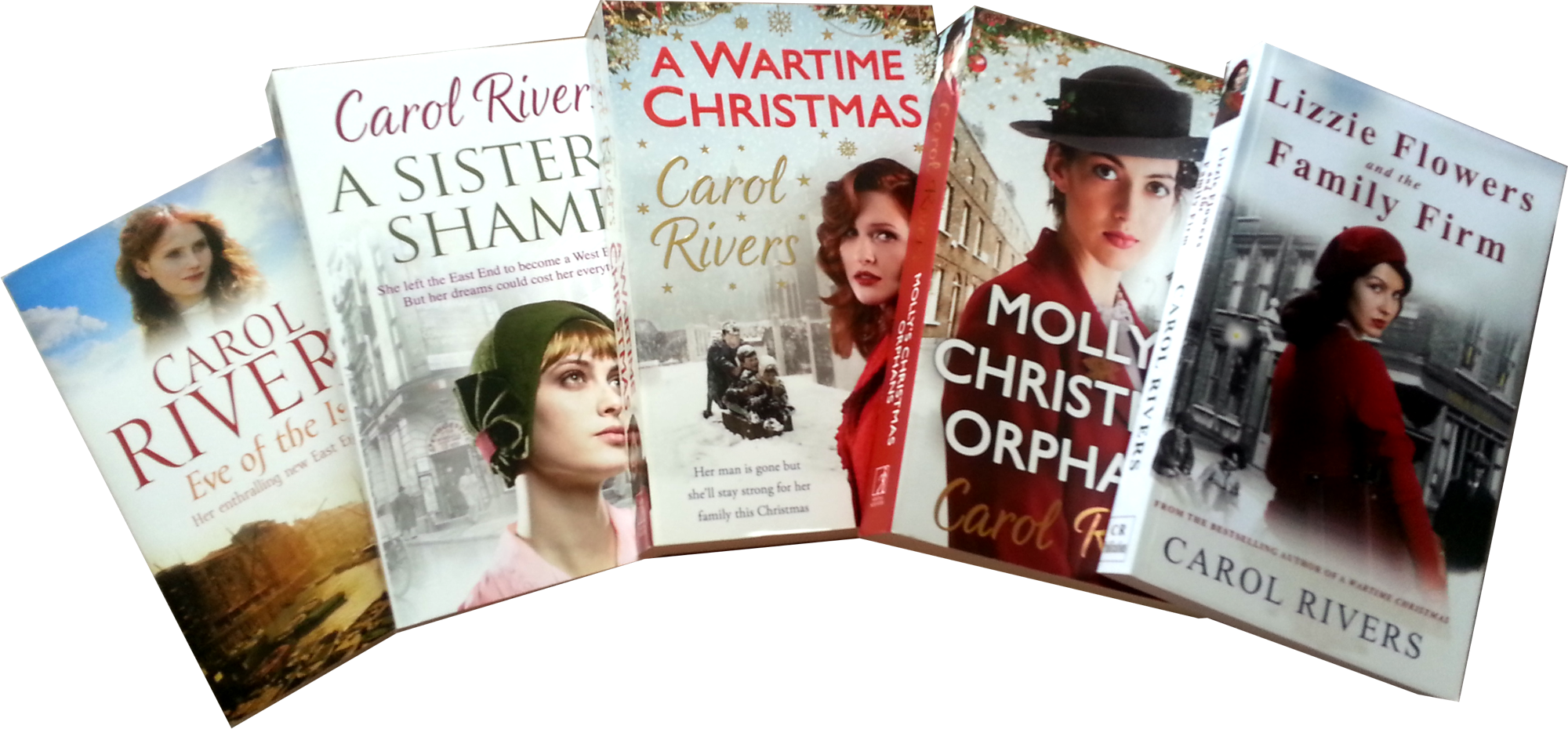 Christmas Child 5 Paperbacks prizes in png