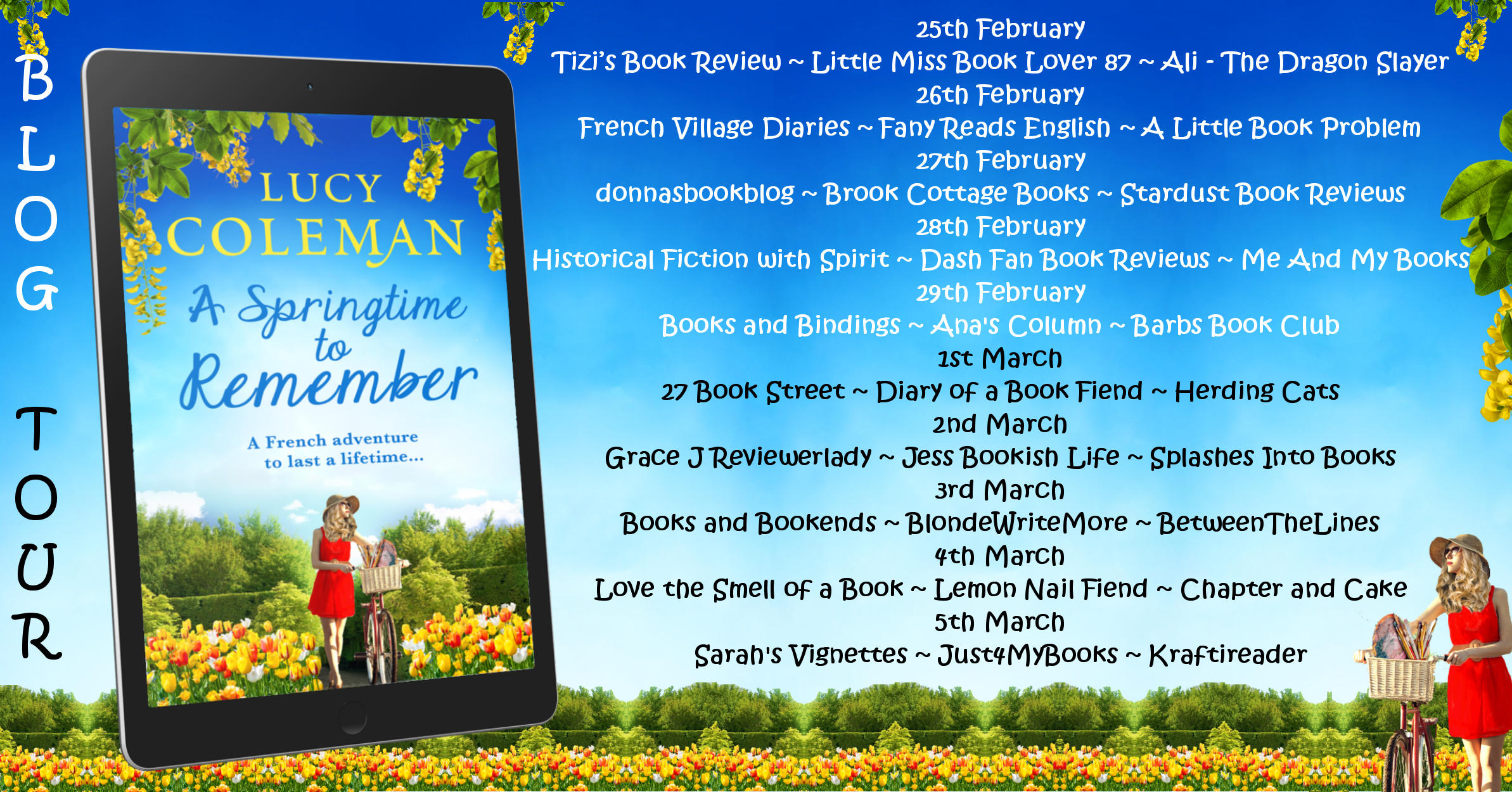 A Springtime to Remember Full Tour Banner