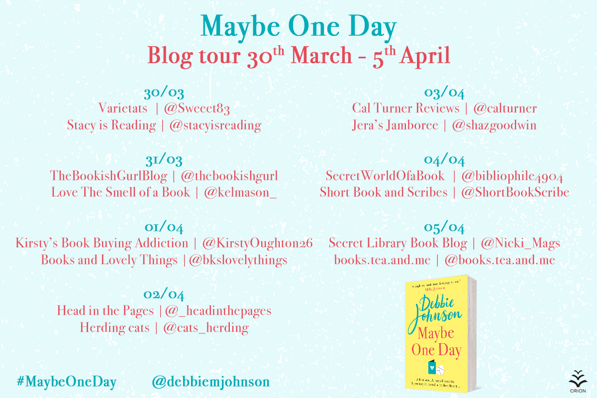 Maybe One Day blog tour